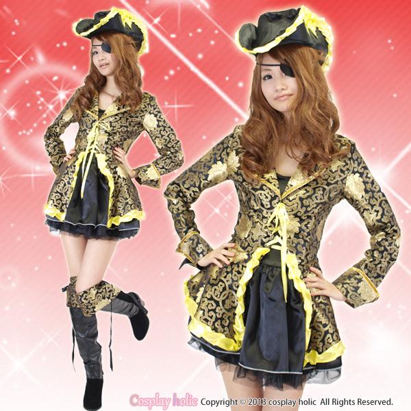ハロウィンコスプレ 仮装 ゴージャスな海賊王衣装