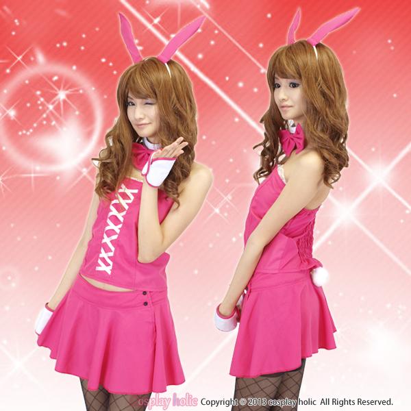 豪華5点セットのピンクセパレートバニー衣装