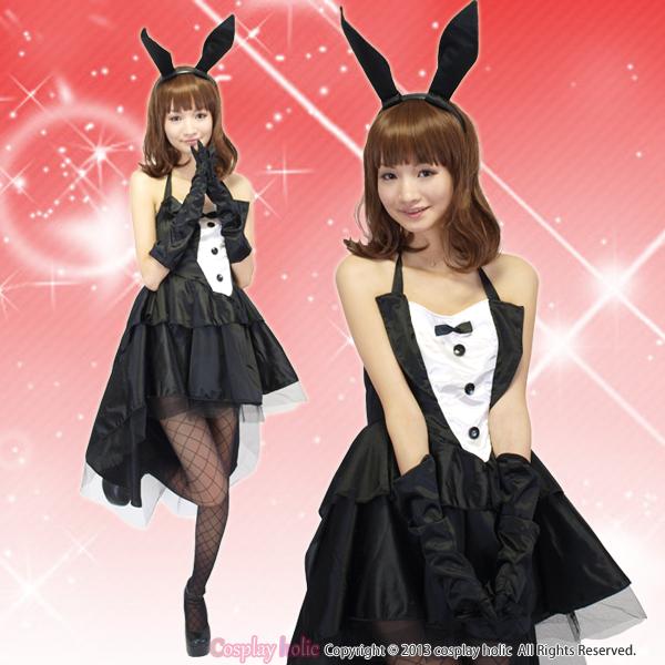 【バニーガールコスプレ】フリルな燕尾ドレス コスチューム