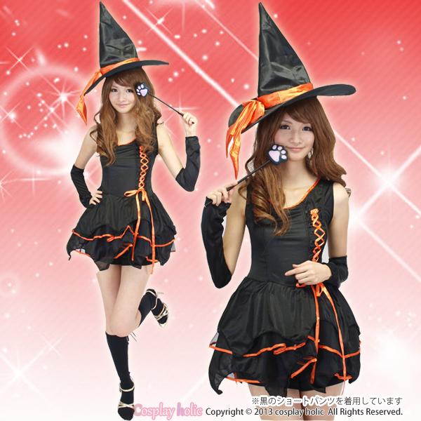ハロウィンの定番!キュートな魔女コスプレ