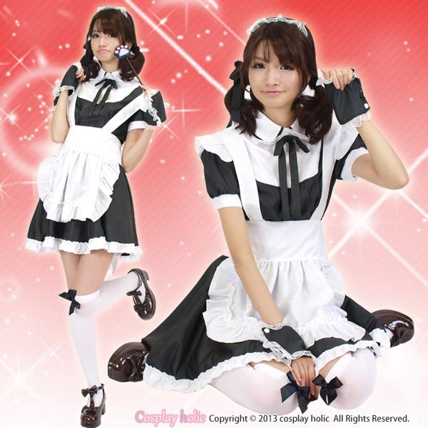 メイド服 通販 定番白黒メイド服