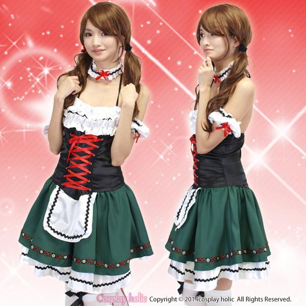 ドイツ民族衣装のディアンドルコスプレ