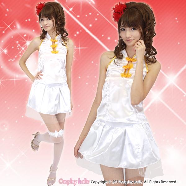 フレアスカートがキュートなチャイナドレス衣装