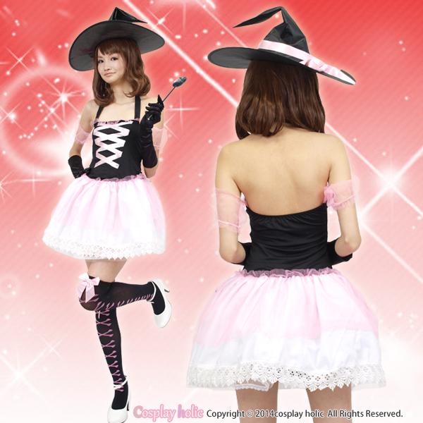 ハロウィンコスプレ 仮装  ピンクチュール魔女衣装