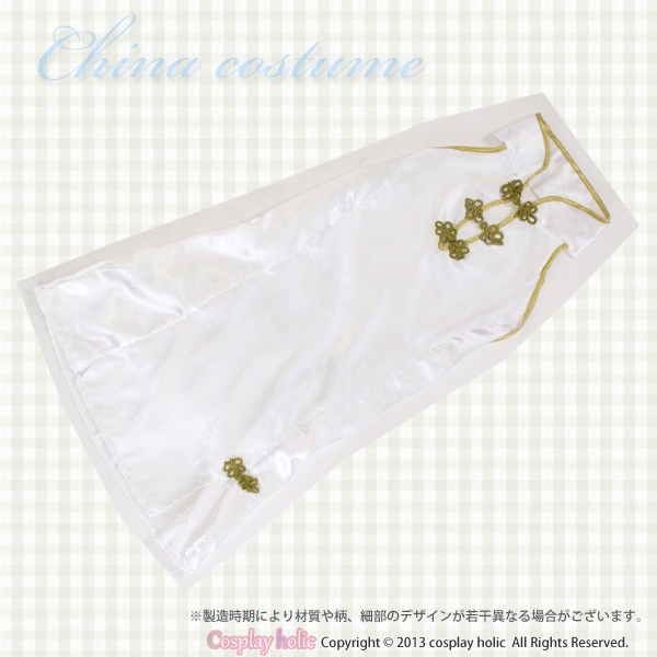 チャイナドレス コスプレ  白糸刺繍の柄ミニワンピース