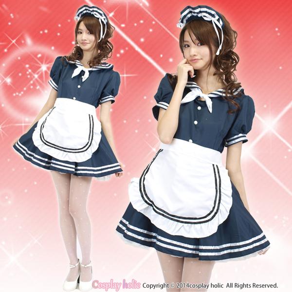 紺セーラーのマリンメイド服