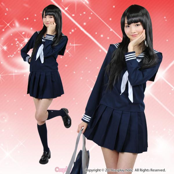セーラー服 コスプレ 清楚な紺白 学生服 女子高生 jk コスチューム衣装