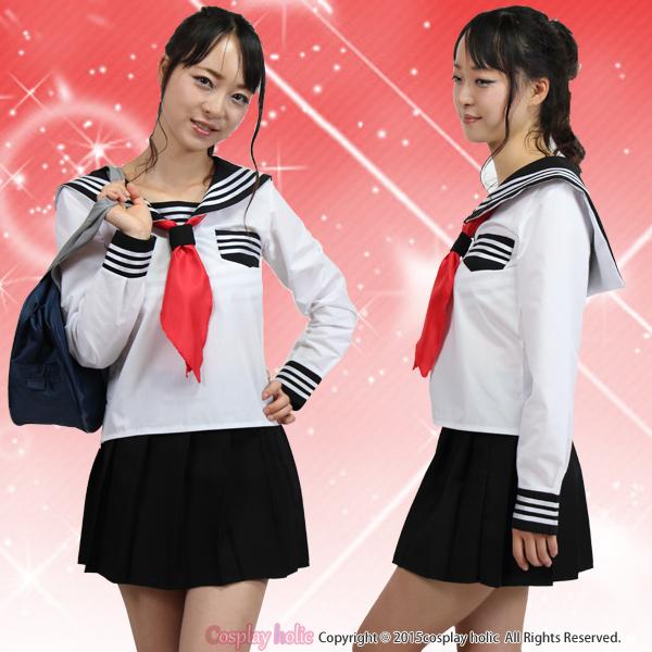 【セーラー服コスプレ】清純感な長袖  女子高生 jk 学生服 制服 コスチューム
