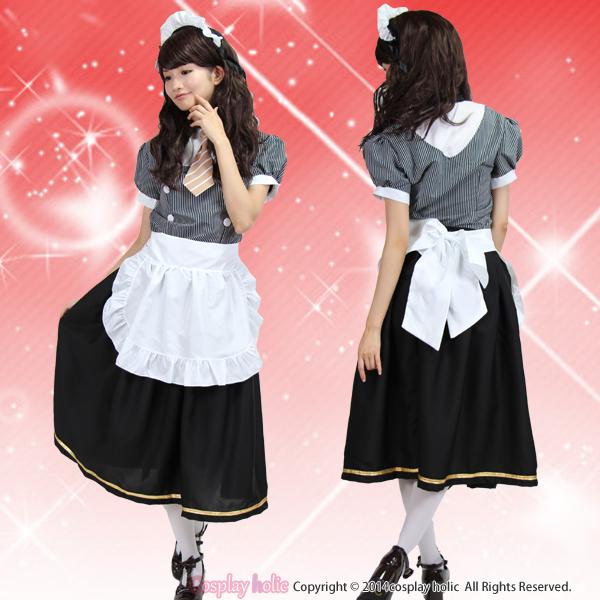 アニメ風ロング丈メイド服