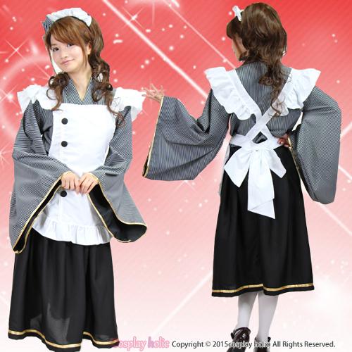 メイド服 ロング 大きいサイズ 長袖 ハロウィン アニメ風