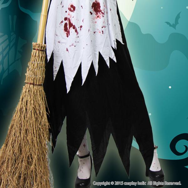 ハロウィンコスプレ 仮装  血まみれゾンビ魔女衣装