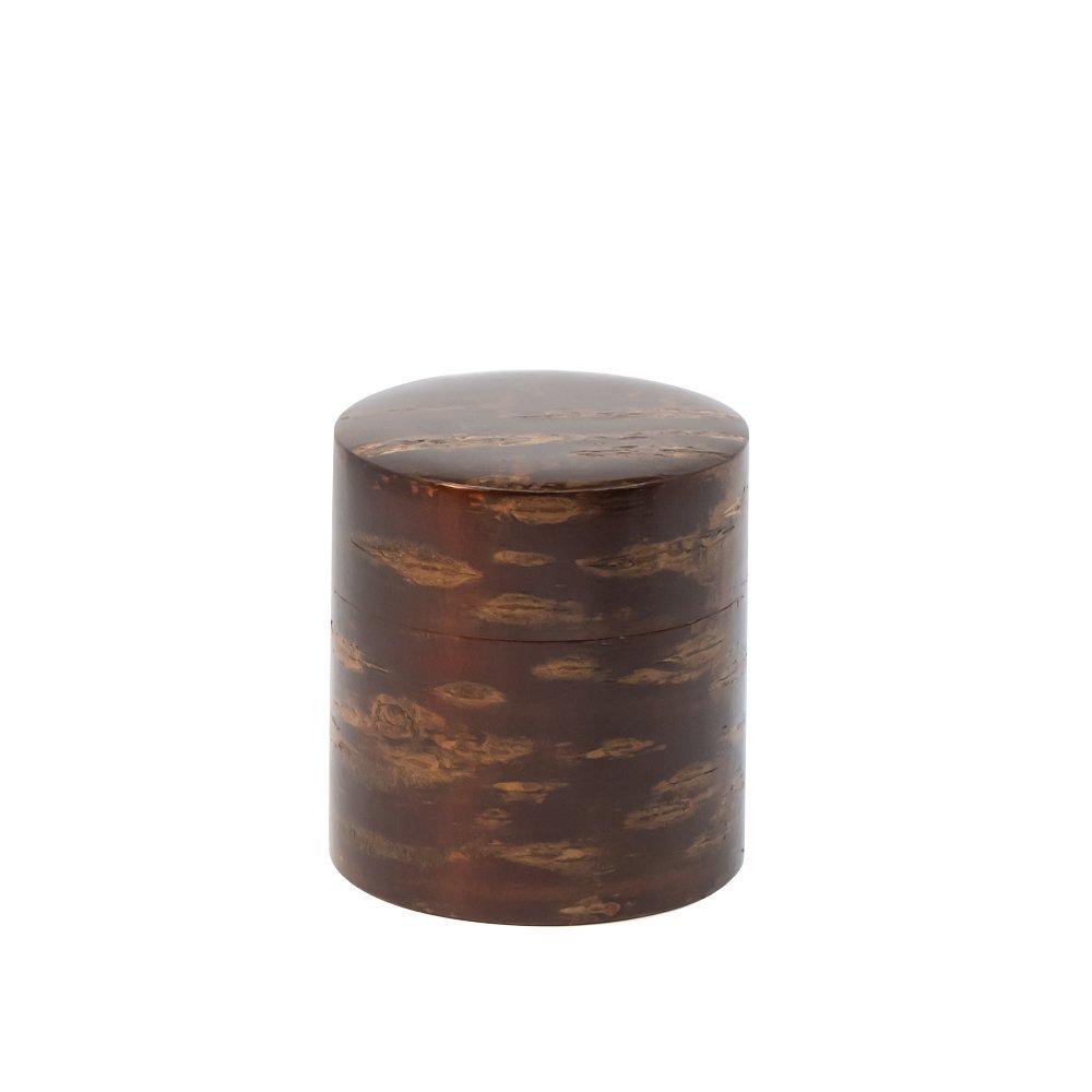 茶缶 平 100g 無地皮