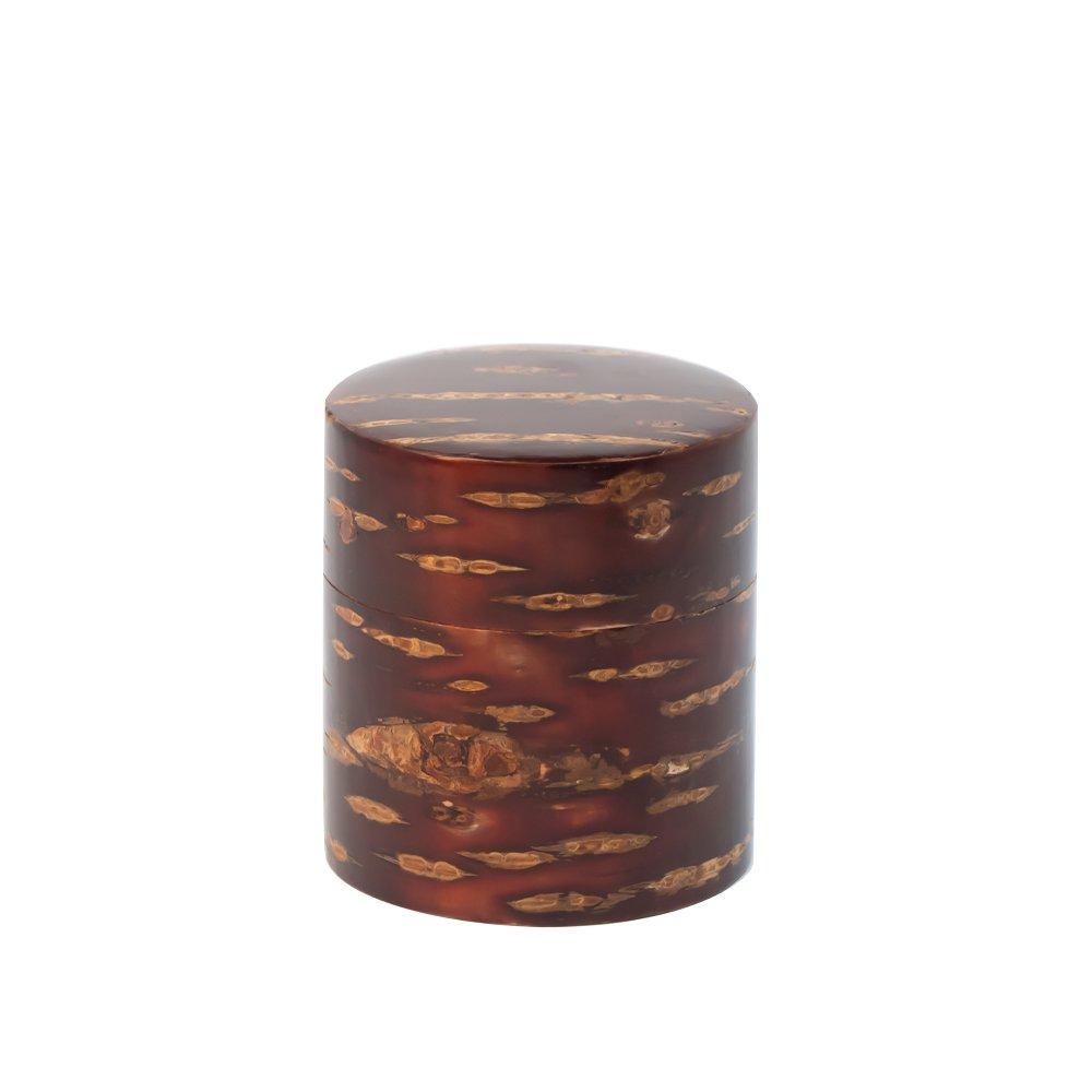 茶缶 平 150g 無地皮