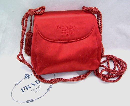 プラダ パーティーバッグ(カラー) 赤 PRADA