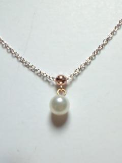 K10 WG 本真珠5ミリ プチネックレス