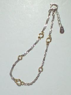 K18 White Gold & Gold ブレス