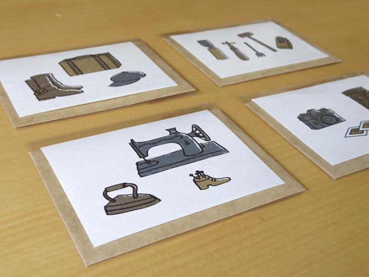 メッセージカード(道具シリーズ)