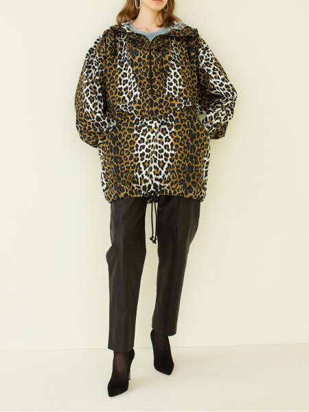 """<img class='new_mark_img1' src='https://img.shop-pro.jp/img/new/icons8.gif' style='border:none;display:inline;margin:0px;padding:0px;width:auto;' />FILL THE BILL"""" Leopard Big Anorak """""""