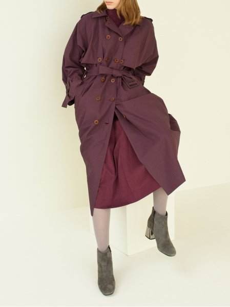 "<img class='new_mark_img1' src='//img.shop-pro.jp/img/new/icons8.gif' style='border:none;display:inline;margin:0px;padding:0px;width:auto;' />FILL THE BILL"" Back Pleat Trench Coat """