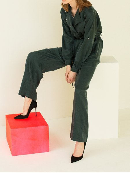 """<img class='new_mark_img1' src='https://img.shop-pro.jp/img/new/icons8.gif' style='border:none;display:inline;margin:0px;padding:0px;width:auto;' />FILL THE BILL"""" Satin Jump Suit """""""