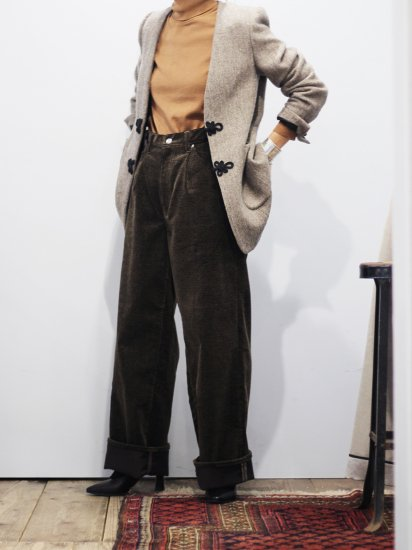"""<img class='new_mark_img1' src='https://img.shop-pro.jp/img/new/icons8.gif' style='border:none;display:inline;margin:0px;padding:0px;width:auto;' />WRYHT """" Knotted Back Cords Jeans """""""