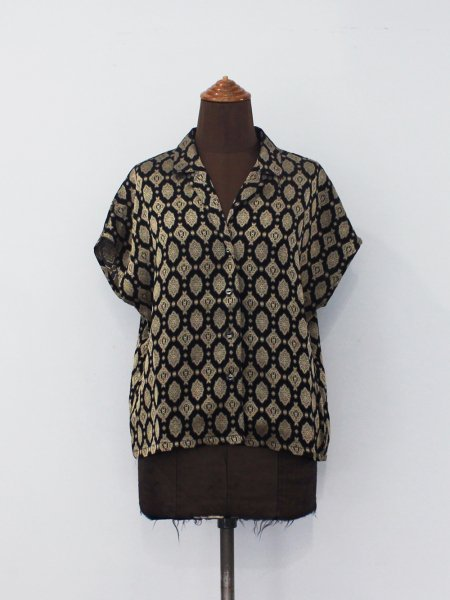 """<img class='new_mark_img1' src='https://img.shop-pro.jp/img/new/icons8.gif' style='border:none;display:inline;margin:0px;padding:0px;width:auto;' />Needles """" French Sleeve Blouse - Cu/Ac Jacquard / Fine Pattern """""""