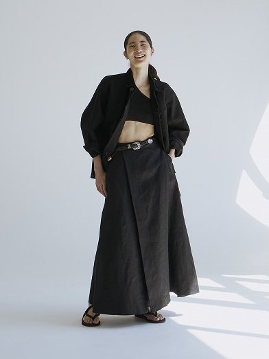 "<img class='new_mark_img1' src='//img.shop-pro.jp/img/new/icons8.gif' style='border:none;display:inline;margin:0px;padding:0px;width:auto;' />JUN MIKAMI "" Irish linen tuck skirt """