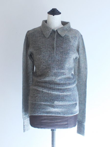 """<img class='new_mark_img1' src='https://img.shop-pro.jp/img/new/icons8.gif' style='border:none;display:inline;margin:0px;padding:0px;width:auto;' />JUN MIKAMI """" mohair polo pullover """""""