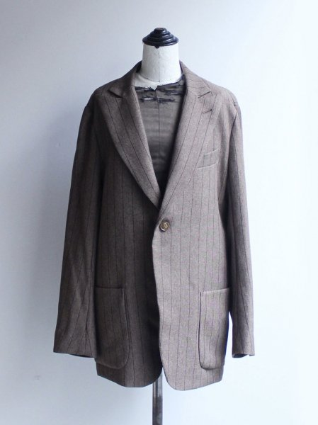 "<img class='new_mark_img1' src='//img.shop-pro.jp/img/new/icons8.gif' style='border:none;display:inline;margin:0px;padding:0px;width:auto;' />Needles "" Peaked Lapel 1B Jacket - Stripe Poly Cloth"""