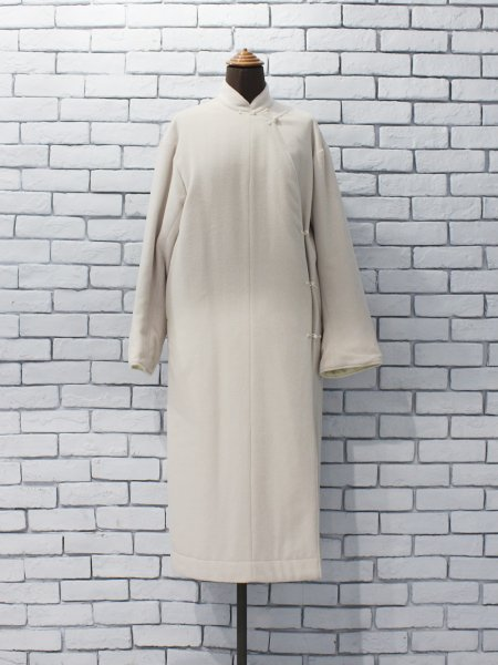 """<img class='new_mark_img1' src='https://img.shop-pro.jp/img/new/icons8.gif' style='border:none;display:inline;margin:0px;padding:0px;width:auto;' />WRYHT """" ASYMMETRY FRONT REVERSIBLE ORIENTAL COAT """""""