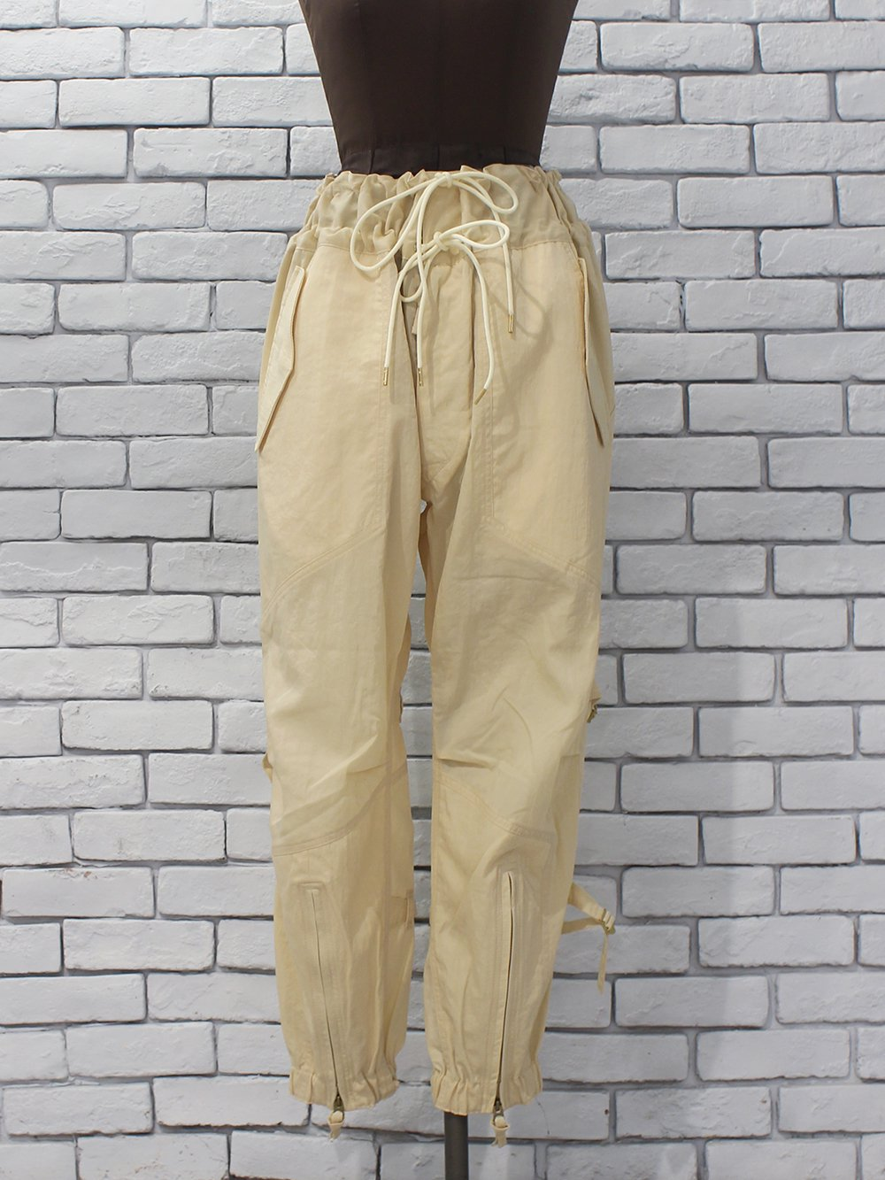 "JUN MIKAMI "" variable pants (cream)"""