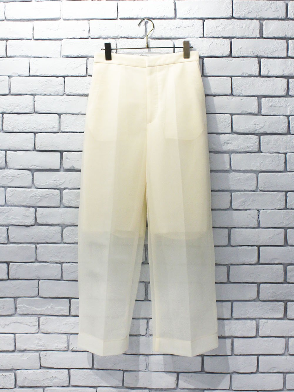 """<img class='new_mark_img1' src='https://img.shop-pro.jp/img/new/icons8.gif' style='border:none;display:inline;margin:0px;padding:0px;width:auto;' />PHEENY """" Seer double knit wide slacks """""""