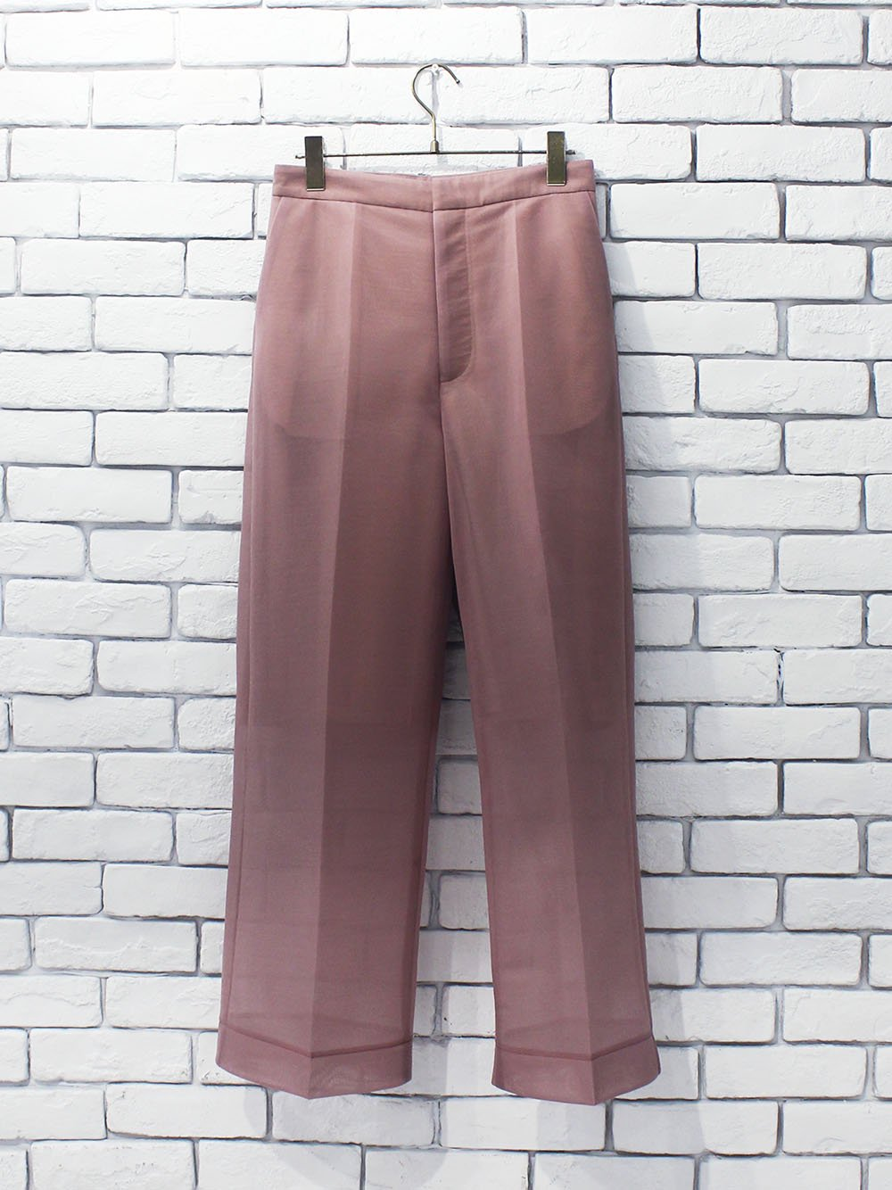 "<img class='new_mark_img1' src='https://img.shop-pro.jp/img/new/icons8.gif' style='border:none;display:inline;margin:0px;padding:0px;width:auto;' />PHEENY "" Seer double knit wide slacks (mauve) """