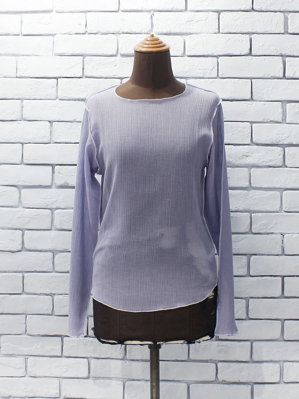 "<img class='new_mark_img1' src='https://img.shop-pro.jp/img/new/icons8.gif' style='border:none;display:inline;margin:0px;padding:0px;width:auto;' />DOMENICO+SAVIO "" long sleeve sheer tops  (pale blue) """