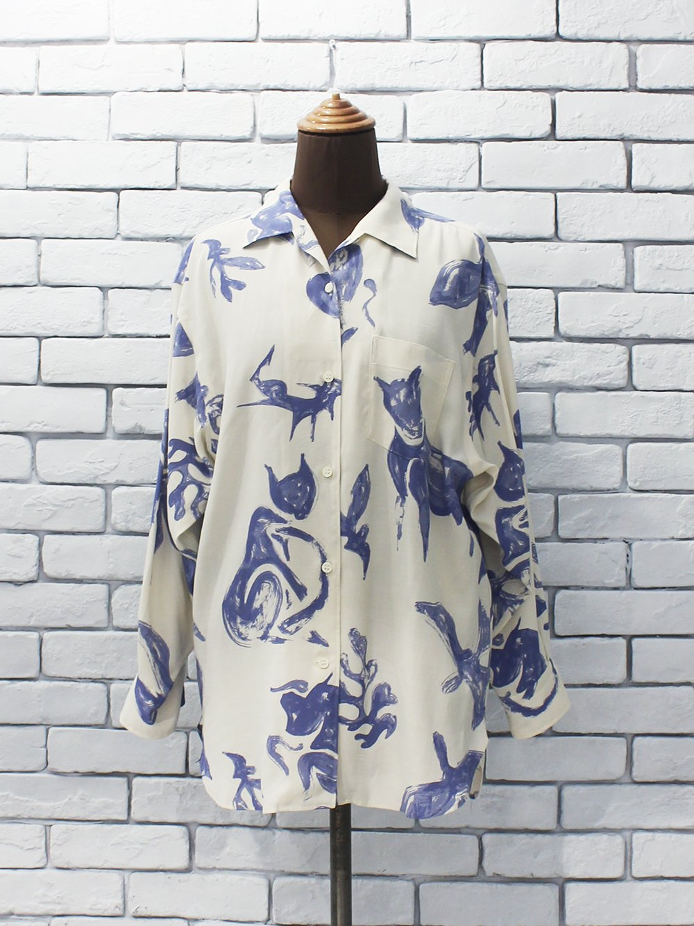 "WRYHT "" One-Piece Collar Blouse (natural) """