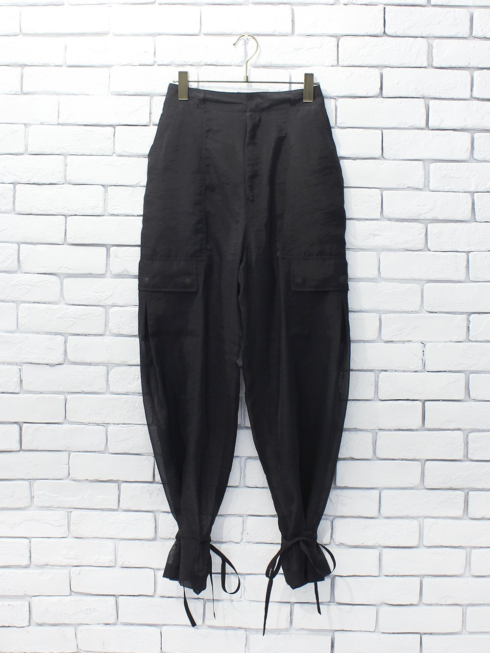 """<img class='new_mark_img1' src='https://img.shop-pro.jp/img/new/icons8.gif' style='border:none;display:inline;margin:0px;padding:0px;width:auto;' />FILL THE BILL"""" SEE THOUGH CARGO TROUSERS (black)"""