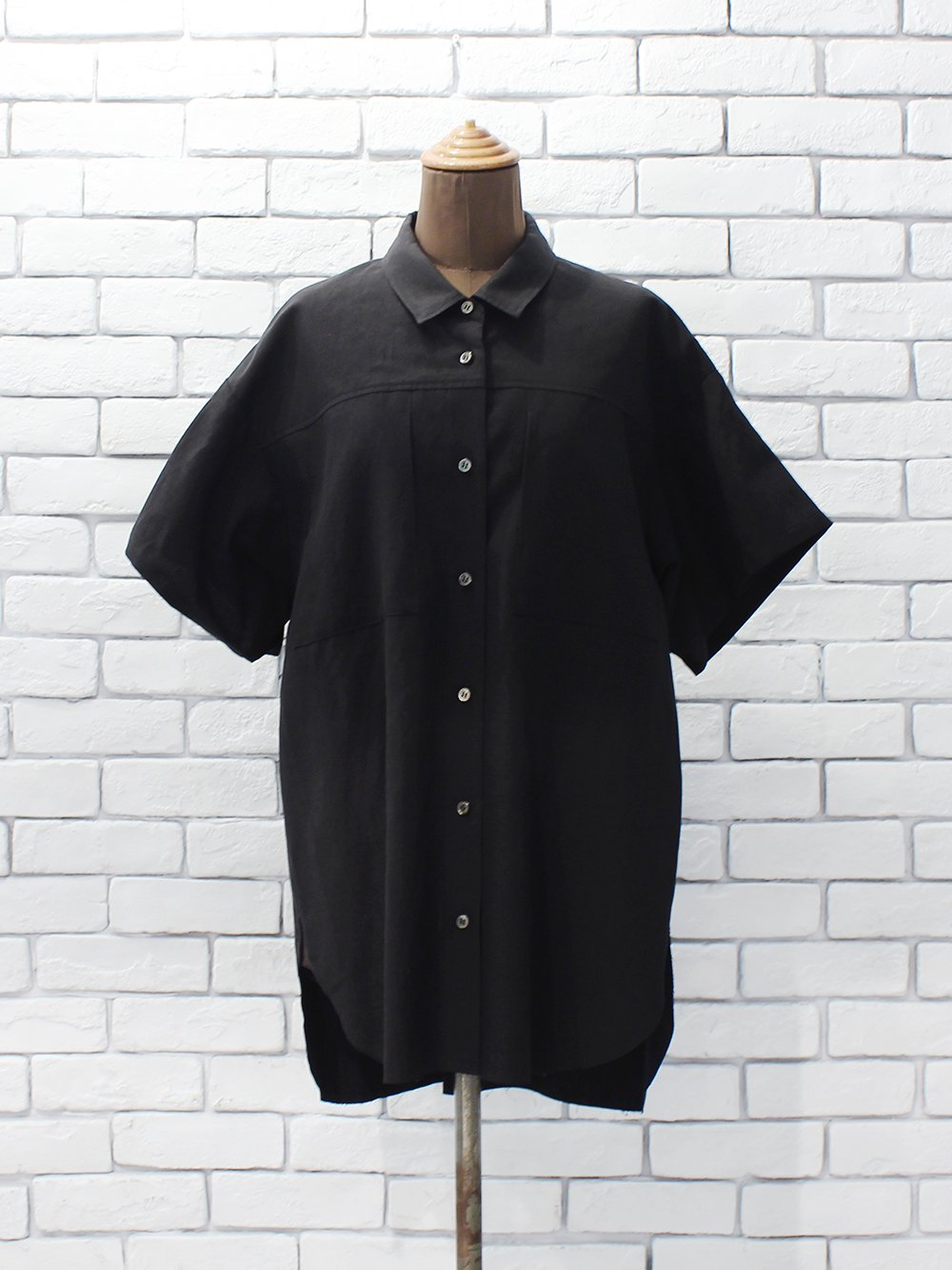 "DOMENICO+SAVIO "" short sleeve shirt (black)"""