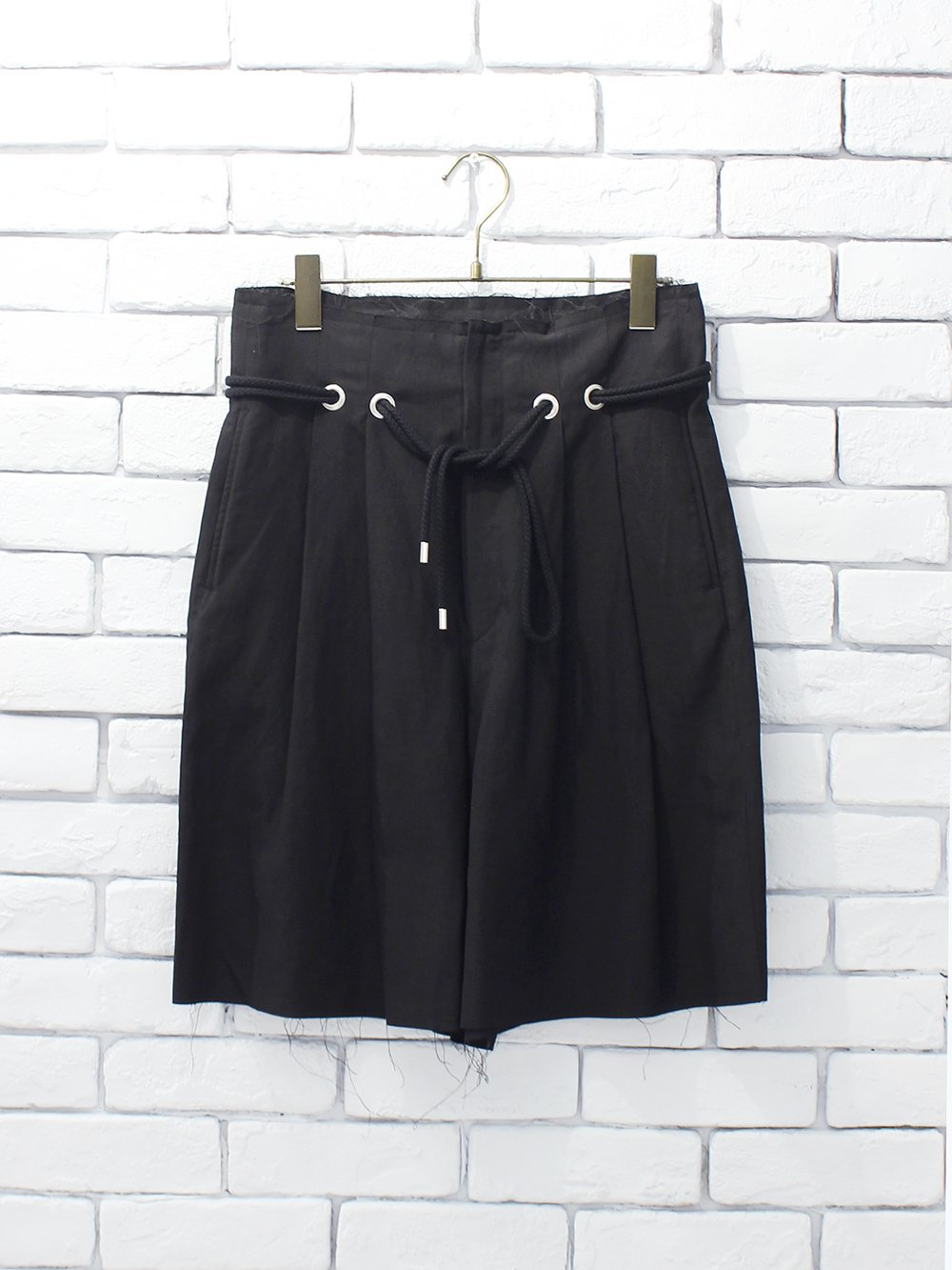 "DOMENICO+SAVIO "" hight waist shorts (black)"""