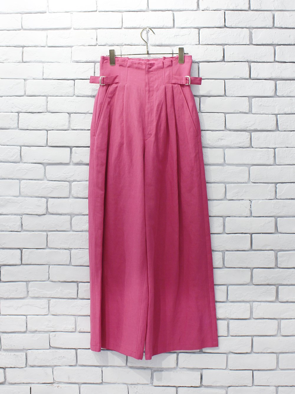 "<img class='new_mark_img1' src='https://img.shop-pro.jp/img/new/icons8.gif' style='border:none;display:inline;margin:0px;padding:0px;width:auto;' />DOMENICO+SAVIO "" hight waist wide pants (fuchsia pink)"""