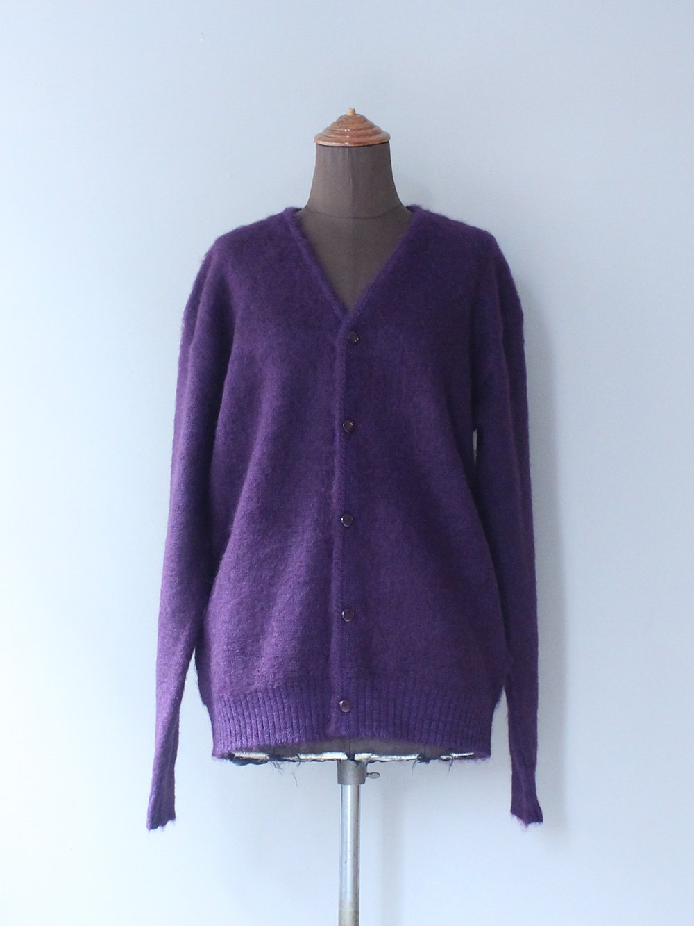 """<img class='new_mark_img1' src='https://img.shop-pro.jp/img/new/icons8.gif' style='border:none;display:inline;margin:0px;padding:0px;width:auto;' />Needles """" Mohair cardigan - Solid (PURPLE)"""""""