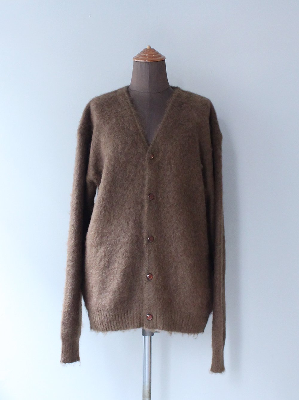 """<img class='new_mark_img1' src='https://img.shop-pro.jp/img/new/icons8.gif' style='border:none;display:inline;margin:0px;padding:0px;width:auto;' />Needles """" Mohair cardigan - Solid (BROWN)"""""""