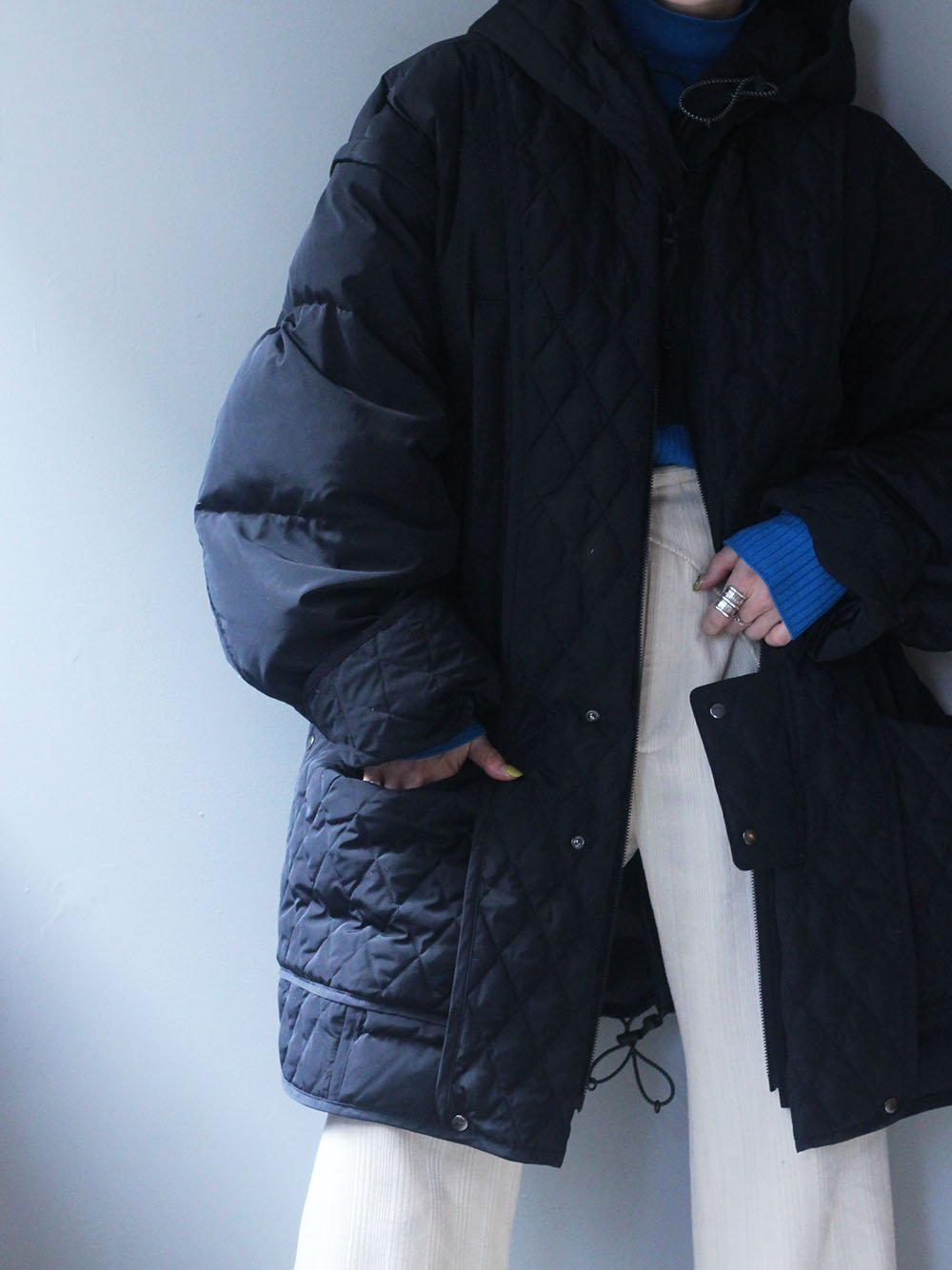 """<img class='new_mark_img1' src='https://img.shop-pro.jp/img/new/icons8.gif' style='border:none;display:inline;margin:0px;padding:0px;width:auto;' />JUN MIKAMI×WILD THINGS """"down jacket"""" (別注color/ black)"""