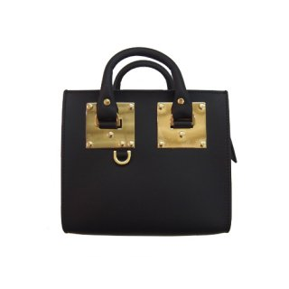 SOPHIE HULME BOX ALBION SHOULDER BAG BLACK ���ե������ҥ��� �ܥå�������ӥ��� ���������Хå� �֥�å�