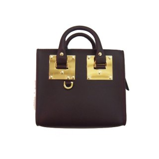 SOPHIE HULME BOX ALBION SHOULDER BAG OXBLOOD ���ե������ҥ��� �ܥå�������ӥ��� ���������Хå� ���å����֥�å�