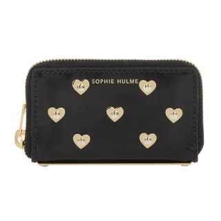 <img class='new_mark_img1' src='//img.shop-pro.jp/img/new/icons16.gif' style='border:none;display:inline;margin:0px;padding:0px;width:auto;' />SOPHIE HULME MINI ROSEBERY COIN PURSE HEARTS ソフィー・ヒュルム ミニローズベリー コインパース ハート ブラック