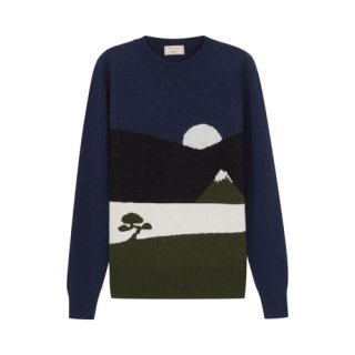 <img class='new_mark_img1' src='//img.shop-pro.jp/img/new/icons16.gif' style='border:none;display:inline;margin:0px;padding:0px;width:auto;' />MAISON KITSUNE LANDSCAPE PULLOVER メゾンキツネ ランドスケープ プルオーバー ブルー