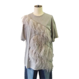 <img class='new_mark_img1' src='https://img.shop-pro.jp/img/new/icons16.gif' style='border:none;display:inline;margin:0px;padding:0px;width:auto;' />N°21 OSTRICH FEATHER TOPS ヌメロヴェントゥーノ オーストリッチ フェザー トップス