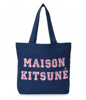 <img class='new_mark_img1' src='//img.shop-pro.jp/img/new/icons16.gif' style='border:none;display:inline;margin:0px;padding:0px;width:auto;' />MAISON KITSUNE TOTE BAG PIXEL メゾンキツネ キャンバス ロゴ トートバッグ