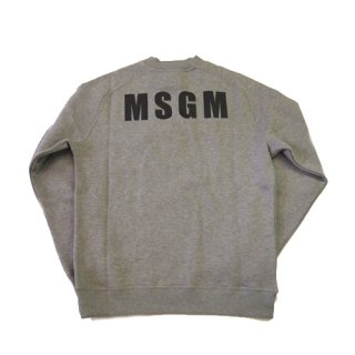 <img class='new_mark_img1' src='//img.shop-pro.jp/img/new/icons16.gif' style='border:none;display:inline;margin:0px;padding:0px;width:auto;' />MSGM MENS BACK LOGO SWEAT エムエスジーエム  バックロゴ スウェット
