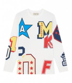 <img class='new_mark_img1' src='//img.shop-pro.jp/img/new/icons16.gif' style='border:none;display:inline;margin:0px;padding:0px;width:auto;' />MAISON KITSUNE TEE SHIRT LONG SLEEVES ALL OVER COLLEGE メゾンキツネ Tシャツ オールオーバーカレッジ